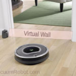 virtual wall for vacuum robot
